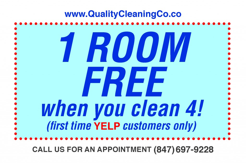Get Four Rooms Cleaned, Get ONE FREE! Yelp